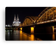 Cologne at Night Canvas Print