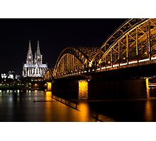 Cologne at Night Photographic Print