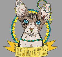 Bastet, The Egyptian Cat Goddess by bblane