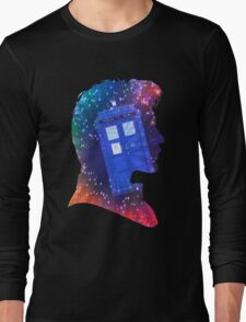 The Eleventh Doctor Silhouette with TARDIS Long Sleeve T-Shirt