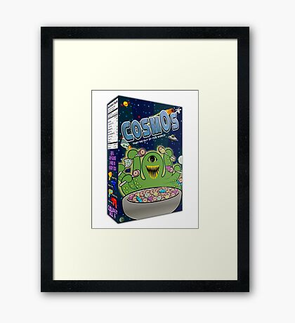 COSMOS Cereal Box Framed Print