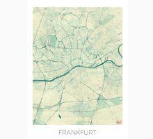 Frankfurt Map Blue Vintage Unisex T-Shirt