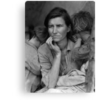Migrant Mother by Dorothea Lange (1936) Canvas Print