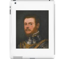 Circle of Jacopo Robusti, called Jacopo Tintoretto PORTRAIT OF A BEARDED MAN, BUST LENGTH, IN ARMOUR iPad Case/Skin