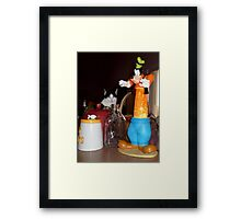 Wait! That one's NOT a cookie jar! Framed Print