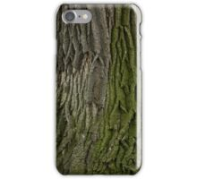 Burr Oak Bark with Moss iPhone Case/Skin