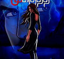 Mysterious Girl at a Blue Lake: Sivappu Kal Mookuthi Tamil Comics Merchandise by Nandhini JS