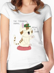 Meow Ze Dong 2  Women's Fitted Scoop T-Shirt