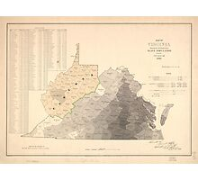 Map of Virginia Slave Population (1860) Photographic Print