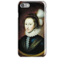 Cornelius Johnson - Portrait of Susanna Temple, Later Lady Lister, Tate Britain iPhone Case/Skin