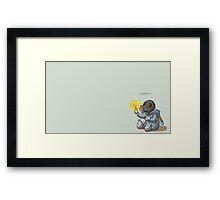 Little Pyro Framed Print