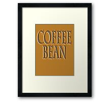 COFFEE, Coffee Bean, Caffeine, Wake up & smell the coffee! Framed Print