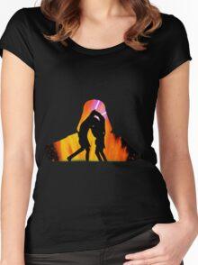 Star Wars - Anakin Skywalker Vs Obi Wan Kenobi Women's Fitted Scoop T-Shirt