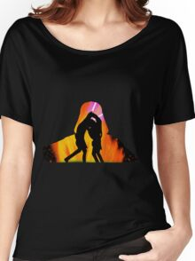 Star Wars - Anakin Skywalker Vs Obi Wan Kenobi Women's Relaxed Fit T-Shirt