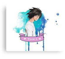 Team L ~ Death Note ~ anime Canvas Print