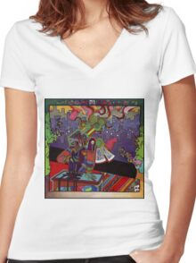 El huervo robot Women's Fitted V-Neck T-Shirt