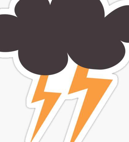 Lightning cloud storm sticker Sticker