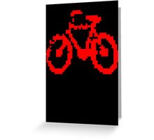 1 bit pixel bike (red) Greeting Card