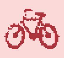 1 bit pixel bike (red) One Piece - Short Sleeve