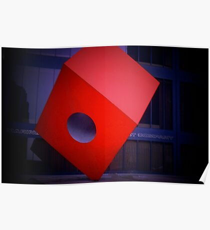 The Big Red Cube Poster