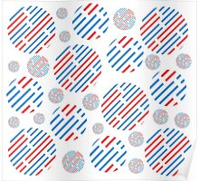 bubble red and blue Poster