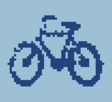 1 bit pixel bike (blue) Kids Clothes