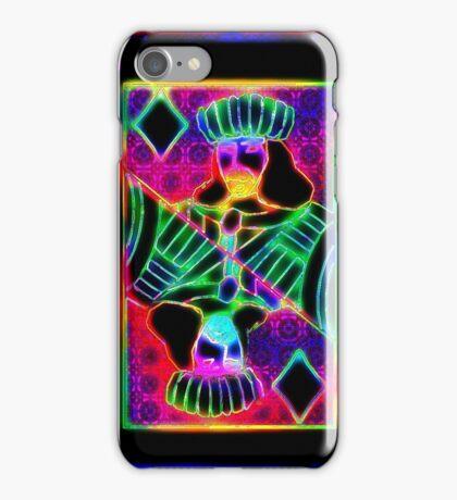Double Neon Jack of Diamonds iPhone Case/Skin