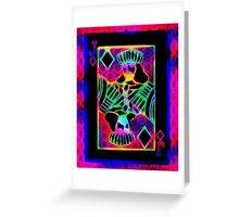 Double Neon Jack of Diamonds Greeting Card