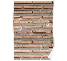 Background of brick wall texture Poster