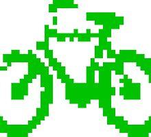 1 bit pixel bike (green) by Pekka Nikrus