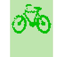 1 bit pixel bike (green) Photographic Print