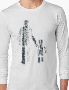 8 bit pixel pedestrians (dark) Long Sleeve T-Shirt
