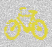 1 bit pixel bike (yellow) One Piece - Long Sleeve