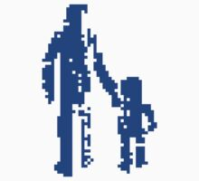 1 bit pixel pedestrians (blue) Kids Clothes