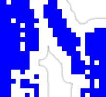 1 bit pixel pedestrians (blue) Sticker