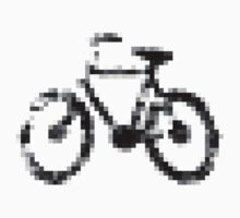 8 bit pixel bike (gray on white) Kids Clothes