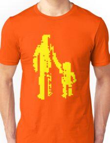 1 bit pixel pedestrians (yellow) Unisex T-Shirt