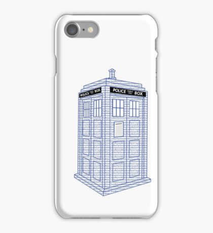 Doctor Who Tardis Typography iPhone Case/Skin