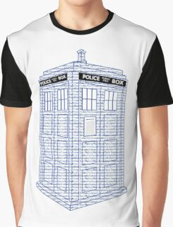 Doctor Who Tardis Typography Graphic T-Shirt