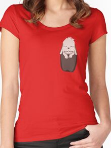 Akamaru in your pocket! Women's Fitted Scoop T-Shirt