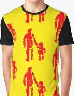 1 bit pixel pedestrians (red) Graphic T-Shirt