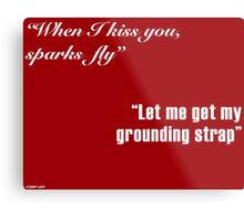 Sparks Fly - Engineers in Love Metal Print