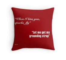 Sparks Fly - Engineers in Love Throw Pillow