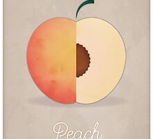 Peach (taupe) - Natural History Fruits by RedHillPrints