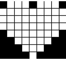 Pixel Heart LCD White Photographic Print