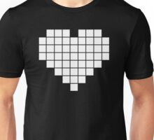 Pixel Heart LCD White Unisex T-Shirt