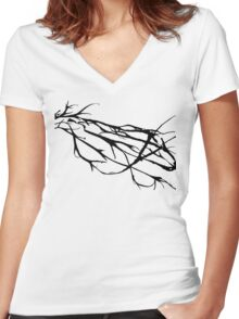Tree Abstrat Women's Fitted V-Neck T-Shirt