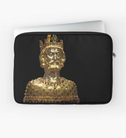 Mask reliquary of Charlemagne, located at Cathedral Treasury in Aachen Laptop Sleeve