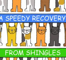 Speedy recovery from shingles. Sticker