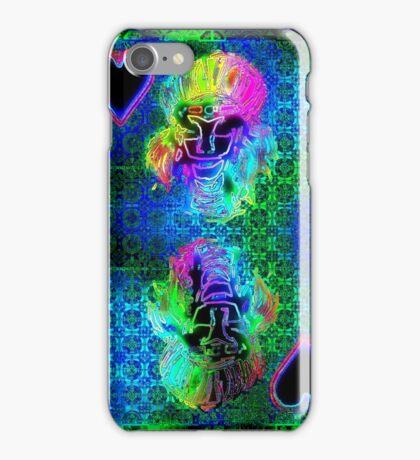 Double Neon Queen of Hearts iPhone Case/Skin